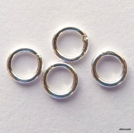 Jump Rings Sterling Silver closed or soldered 4.5 x 3 x 0.8 or 20 gauge